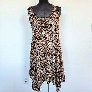 Isabella Rodriguez Animal Print Handkerchief Dress